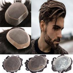 100 Human Hair Topper Clip in Hairpiece Toupee Top Piece Sho
