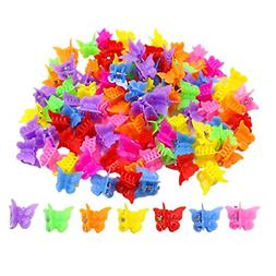 100 Pack Butterfly Hair Clips Girls Women Bulk Small Mini Bu
