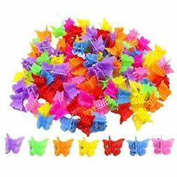 100 Pack Butterfly Hair Clips Girls And Women, Beautiful Bul