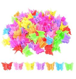 100 Packs Assorted Color Butterfly Hair Clips Bantoye Girls