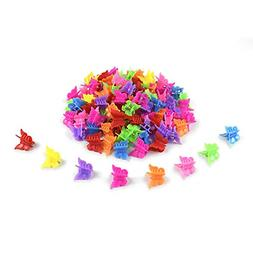 100 Pcs Mini Butterfly Hair Clips Plastic Hair Accessories B