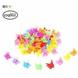 100 pieces hair clips claw butterfly barrettes