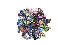 "100pc 2""  Snap Hair Clips Metal Hair Salon Clip No Slip Girl"