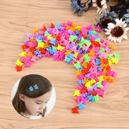 100pcs butterfly hair clips claw barrettes mini