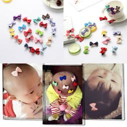 10Pcs Cute Kids Girl Baby Toddler Flower Bow Headband Hair B