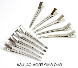 10Pcs Metal Hairdressing Duck Bill Alligator Clips Professio