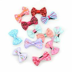 10pcs/set Mixed Bow Hair Clip Duckbill Hairpins for Baby Kid