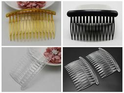 12 Plastic Hair Clips Side Combs Pin Barrettes 80X50mm Black
