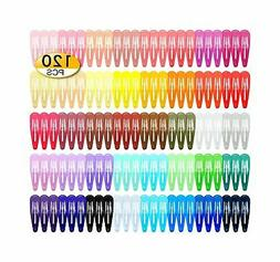 120 pack 40 colors 2 inch snap
