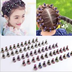 12pcs Metal Butterfly Hair Clips Claw Clip with Rhinestone C