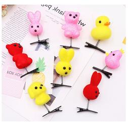 12pcs Plush Cartoon Animal <font><b>Hair</b></font> <font><b