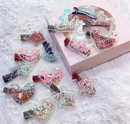 14Pcs Hair Clips for little girls toddlers with Star Heart a