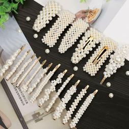 18 pcs pearl hair clips large hair
