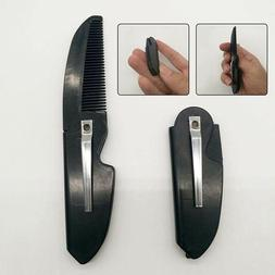 1PC Men's Beard Comb Handmade Folding Pocket Clip Hair Moust