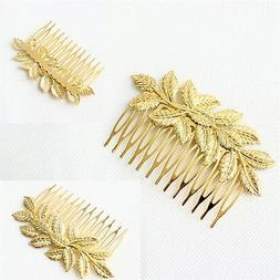1pc Women Hair Clips Hair Comb Hairpin Alloy Leaves Elegant