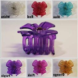 1Pcs Hair Ribbon Clips Summer Color 2.5 inch Jaw Accessory P