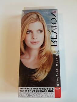 REVLON 2 IN 1 CLIP IN HAIR EXTENSION AND BRAIDED PONY WRAP F