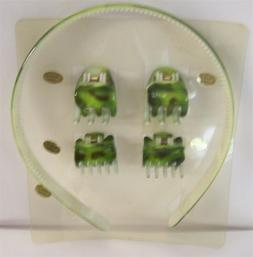 2 NEW Plastic Headbands w/ Matching Hair Clips LIME