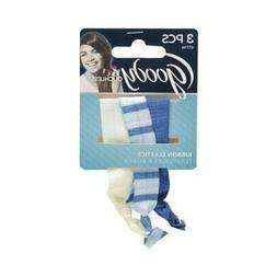 2 Goody Ouchless Ribbon Elastics 6pcs Total -Blue-