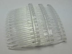 20 Clear Plastic Hair Clips Side Combs Pin Barrettes 70X40mm