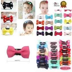 20Pcs Tiny Baby Hair Clips for Fine Boutique Grosgrain Ribbo