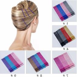 24Pcs 5cm Multicolor Hair Clips Bobby Pins Wavy Hairpins Met