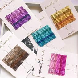 24pcs candy color hair clips bobby pins