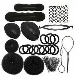 26 pcs hair bun crown shapers diy