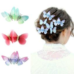 2pcs butterfly hairpin ladies bb hair clips