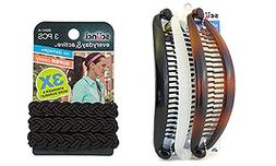 Scunci Braided 3 Strands No Damage Elastics - Colors May Var