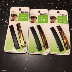 3 Pack Scunci No Slip Grip Hair Clips - 6 Total - Tortoise S