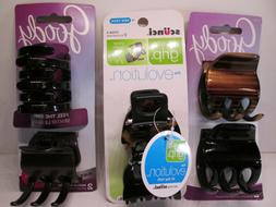 3pc Goody scunci Hair Accessories Claw Clips Med Large Black