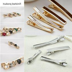 4.5/6/8cm Alloy Hair Clips Alligator Duckbill Barrettes Hair