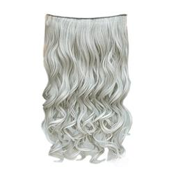 "REECHO 20"" 1-Pack 3/4 Full Head Curly Wave Grandma Hair Colo"