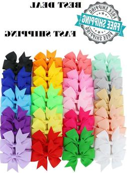 40 Boutique Hair Bows Grosgrain Ribbon Teen Kid Toddler Baby