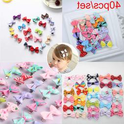 40pcs/lot Baby Girls Kids Children Toddler Mini Flowers Hair
