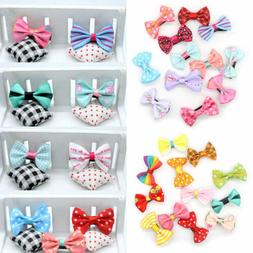 5/10PCS Bowknot Duckbill Hair Clips Ribbon Bow Hair Accessor