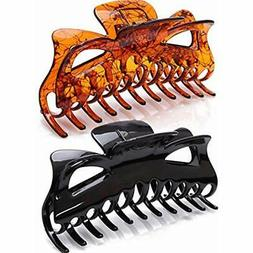 Prettyou 5.5 Inches Large Hair Clips Crystal Plastic Claw Ba