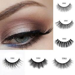 5 Pairs Women Natural 3D Mink Hair False Eyelashes Eye Lashe