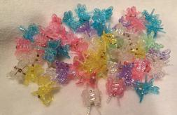 50  Mixed Mini Plastic Dragonfly Hair Clips Hair Accessories