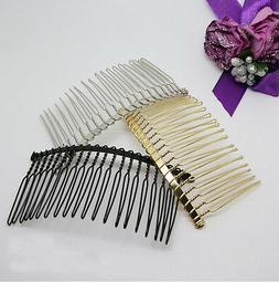 50Pcs 20 Teeth Wholesale Metal Hair Clips Side Combs Pin Bar