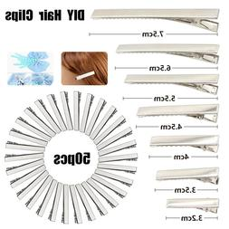 50PCS Hair Clips DIY Crocodile Alligator Duckbill Hairpins F