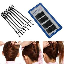 56pcs invisible hair clips flat top bobby