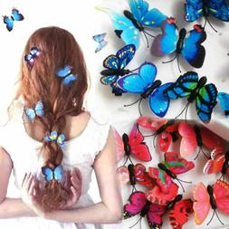 5Pcs Butterfly Flower Hair Claw Clamp Hair Clips Wedding Par