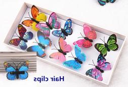 5Pcs Butterfly Hair Clips Bridal Hair Accessories Wedding Ph