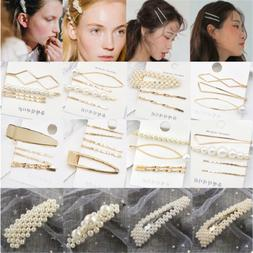 Fashion Pearl Hair Clip Hairband Comb Bobby Pin Barrette Hai