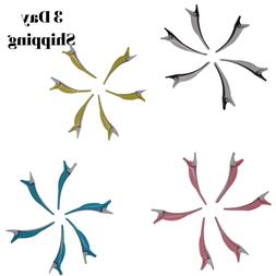 6 PCS Durable Dolphin Salon Hair Styling Clips-Sectioning Ha