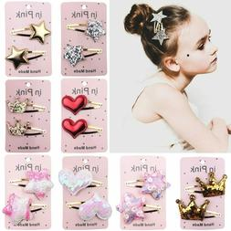 67Color 2PC lovely Children Hair Clips BB Hair Pins Heart Ch