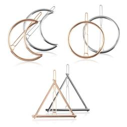 6pcs minimalist dainty gold silver hollow geometric