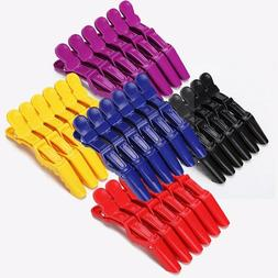 6Pcs Professional Alligator Hair Clips Hairdressing Salon Ha